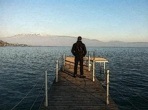 Uomo e Lago