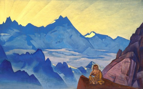 Nicholas Roerich copertina libro Meditazioni delle Vette di Evola J.