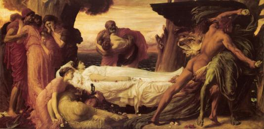 Lord Frederic Leighton-Hercules Wrestling with Death for the Body of Alcestis