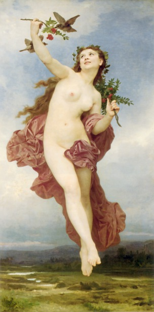 William Adolphe Bouguereau (1825-1905) Day (1881)